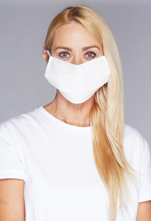 Lonkel plain textile mask off white