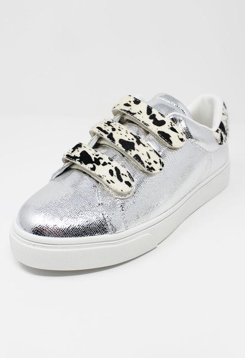 Shoe Lounge Silver Trainer with Safari Velcro Straps