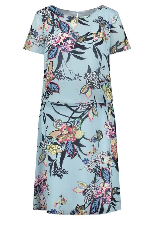 Gerry Weber Light blue dress with floral design