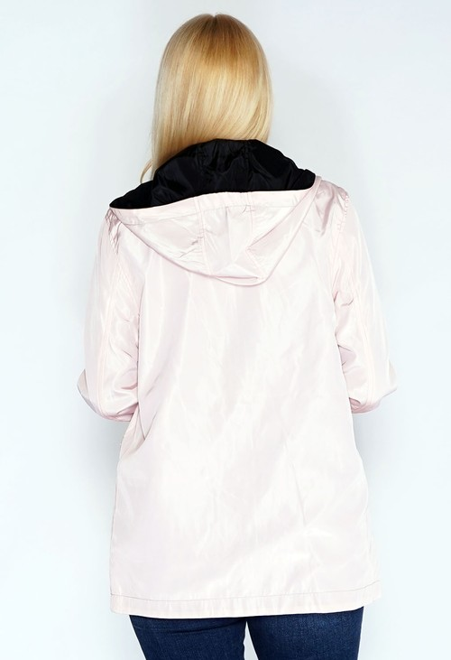 Pamela Scott Reversible Pink/Black Raincoat