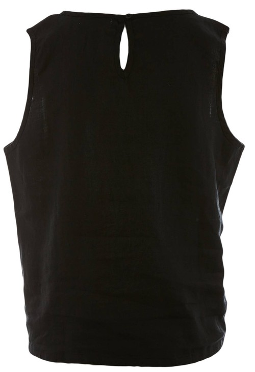 Bicalla Linen Top - Black