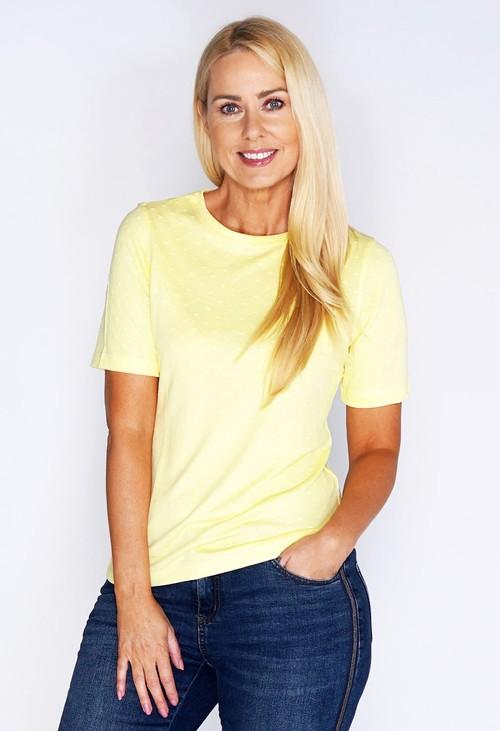 Bicalla Dot Jacquard T-shirt