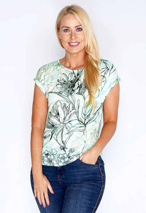 Bicalla Burnout Flower T-shirt