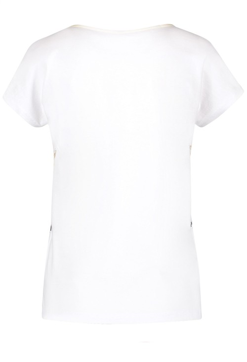 Gerry Weber Organic cotton top with a mixed pattern