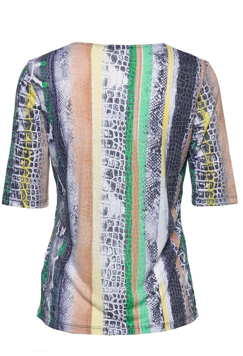 Gerry Weber PRINTED TOP WITH DIAMONTE DETAIL