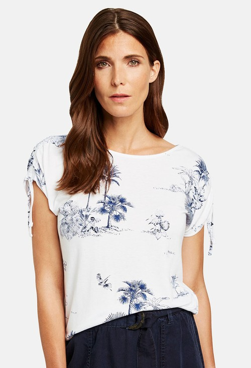 Gerry Weber T-SHIRT WITH PALM PRINT