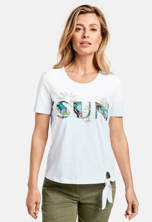 Gerry Weber Organic cotton top with mid-length sleeves, Sun