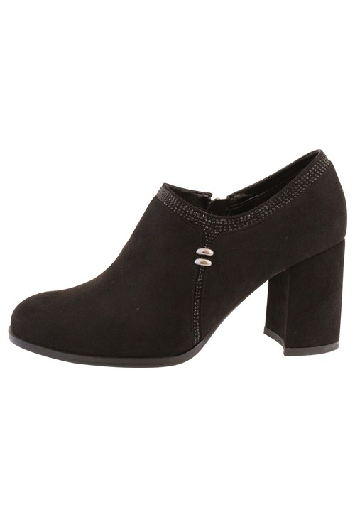 Susst Black Microfibre Plain Front High Top Shoe