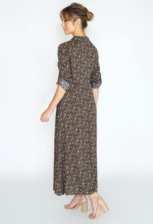 Pamela Scott Tunic shirt dress with floral print