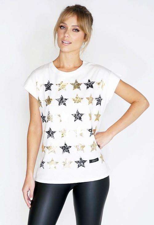 Pamela Scott Stars Printed T-shirt