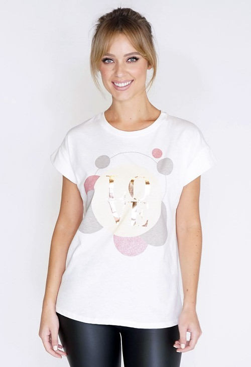 Pamela Scott Love Printed T-Shirt