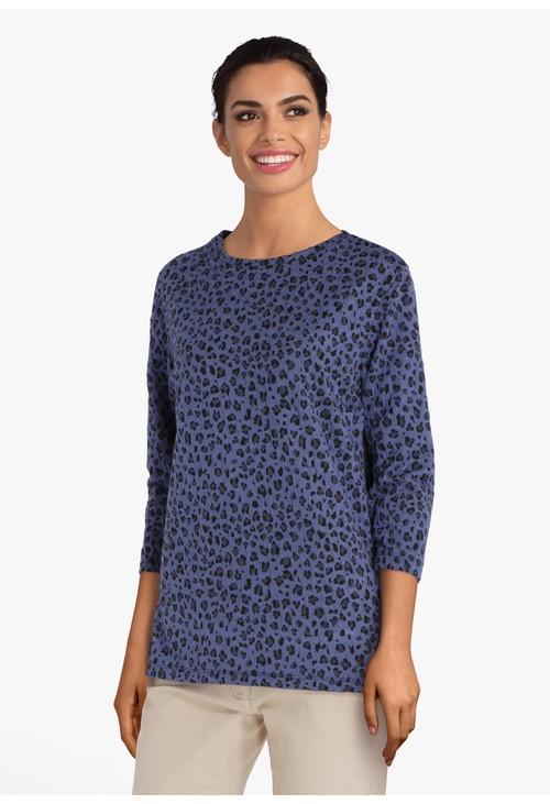 Bicalla Dark blue Top in textured fabric