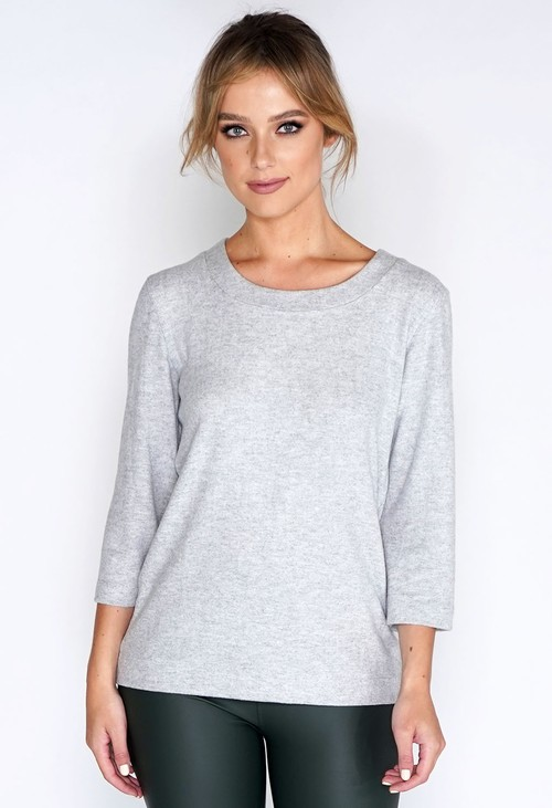 Bicalla Pullover Plain Soft grey