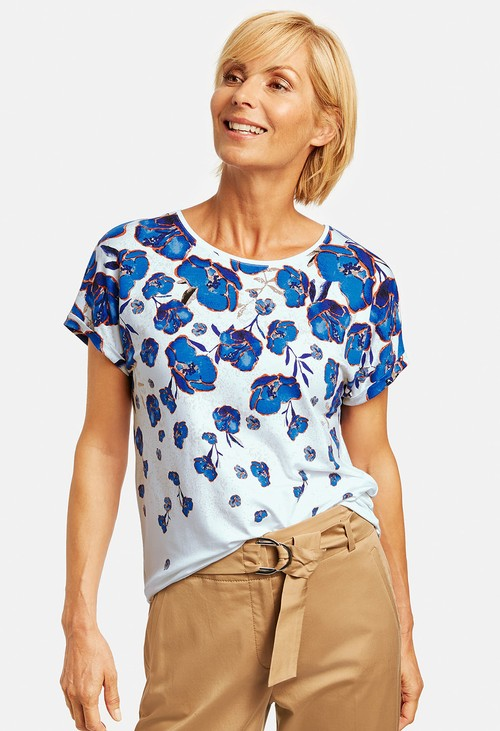 Gerry Weber Top with a graduated floral print