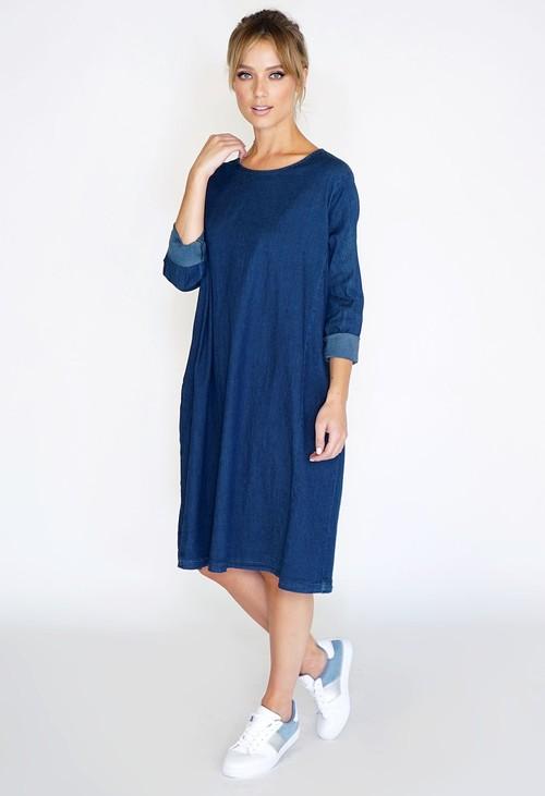 Wendy Trendy Denim Oversized Dress