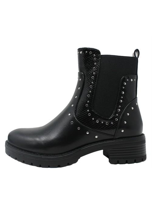 Pamela Scott Stud Detail Chunky Ankle Boots