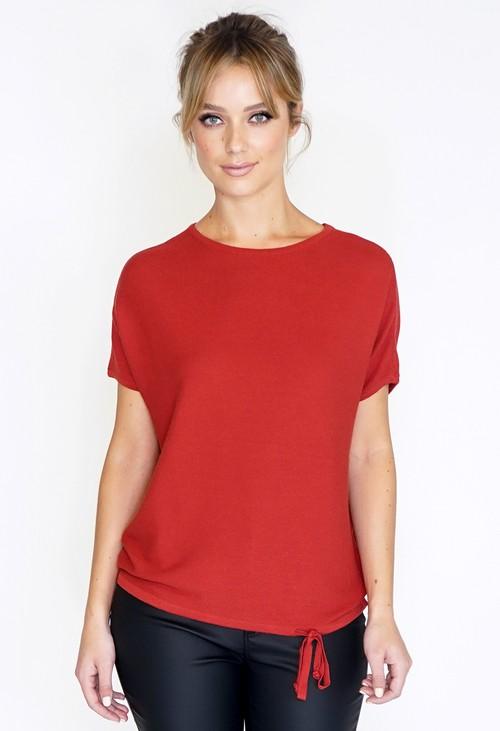 Betty Barclay Red Fine Knit Jumper