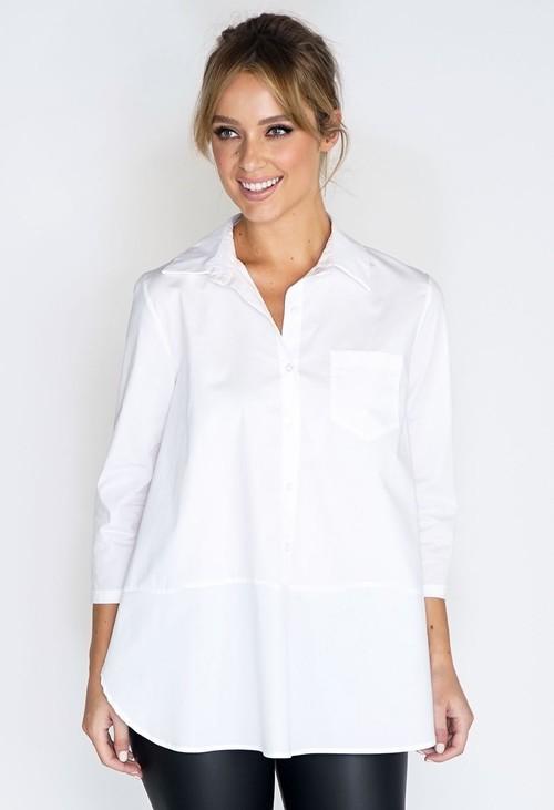 Wendy Trendy White Modern Shirt