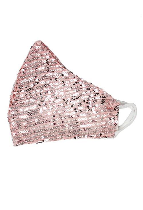 Lonkel Pink Sequin Reusable Mask