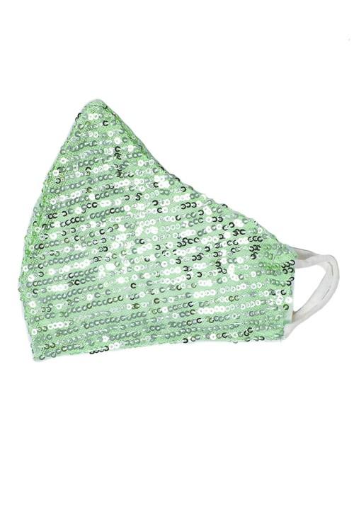 Lonkel Green Sequin Reusable Mask