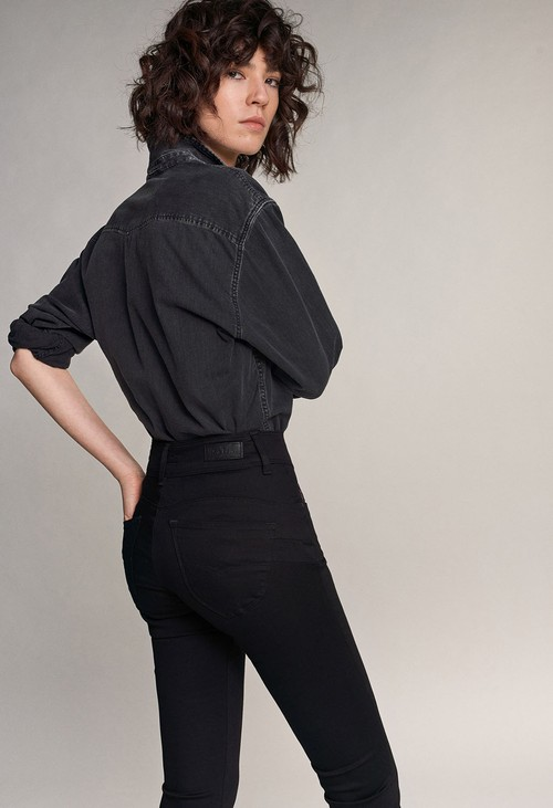 Salsa Jeans PUSH IN SECRET SKINNY TRUE BLACK JEANS (30 Leg)