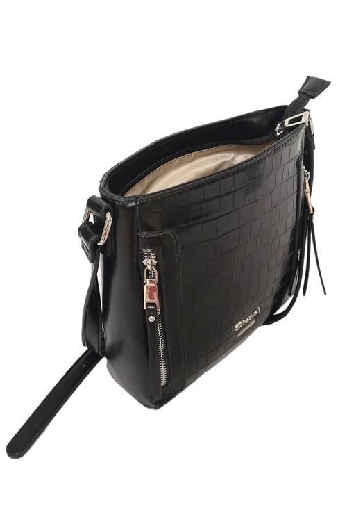 Gionni Gloss Crococdile Crossbody Bag