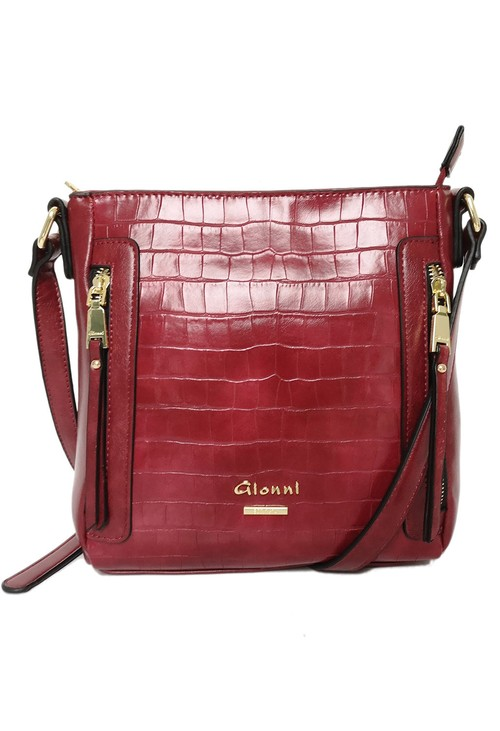 Gionni Gloss Crococdile Crossbody Bag