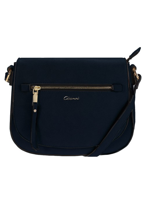 Gionni Lille Front Zip Saddle Bag Navy