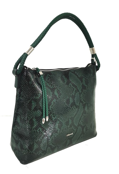 Gionni Snake Hobo Bag Green