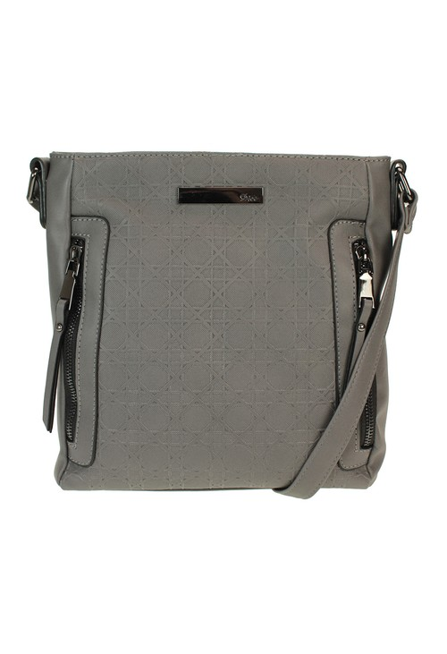 Dice Grey Crossbody Bag