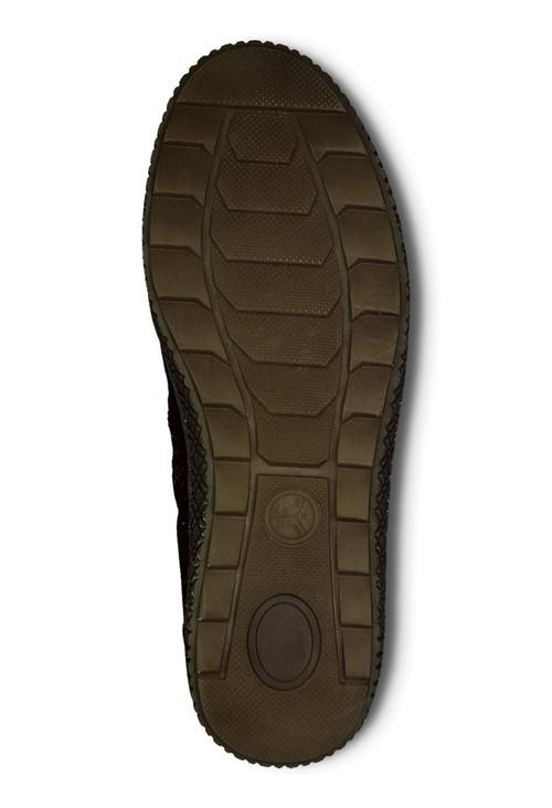 Jana Chestnut Faux Suede Side Zip Comfort Boot