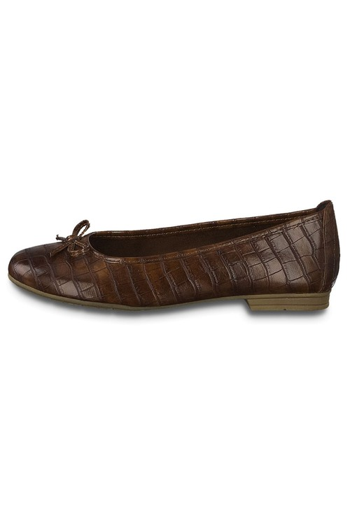 Jana Chestnut Softline Flat Pump