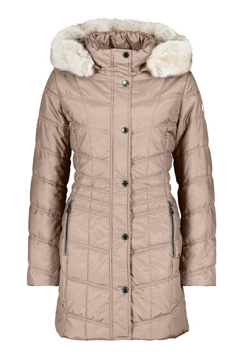 Betty Barclay COAT WITH FAUX FUR HOOD