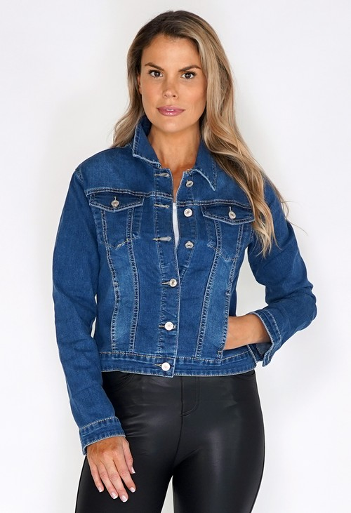 Zapara Mid Wash Denim Jacket