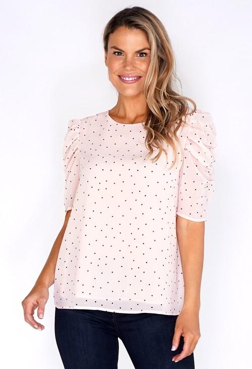 Pamela Scott Light Pink Spotted Blouse
