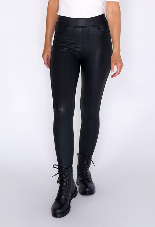 PS Leggings Faux Leather Leggings with Pockets