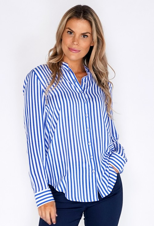 ERFO Blue and White Stripe Shirt