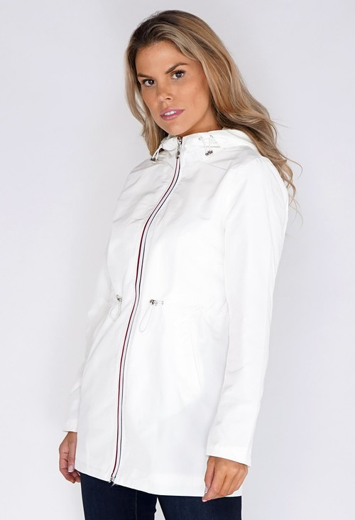 Pamela Scott Off White Raincoat