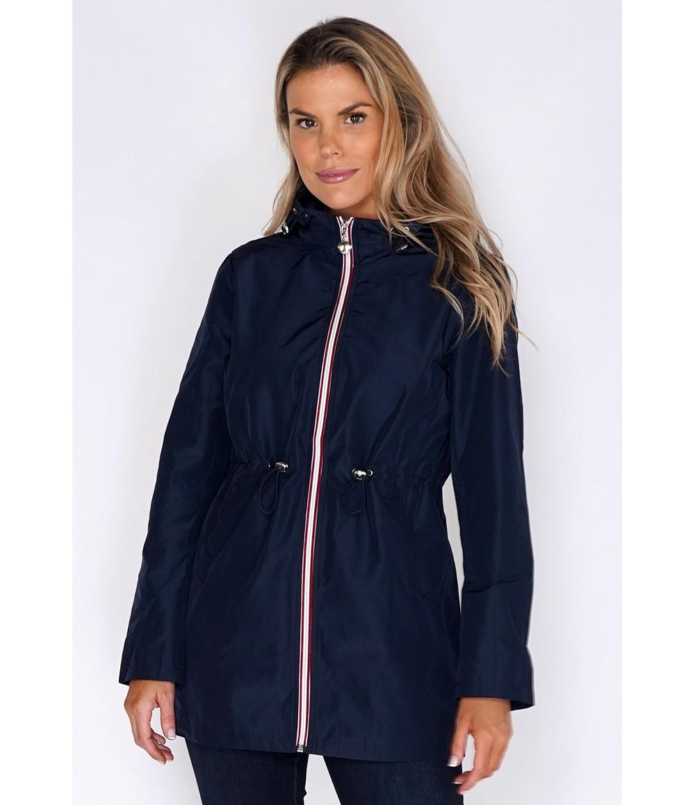 Pamela Scott Navy Raincoat