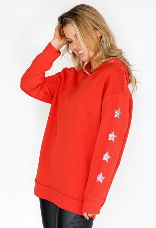 Pamela Scott Red Star Detail Hoody
