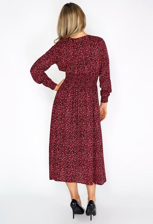 Zapara Red Mini Bloom Print Dress