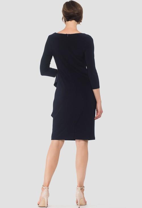 Joseph Ribkoff Midnight Blue Ruffle Detail Dress