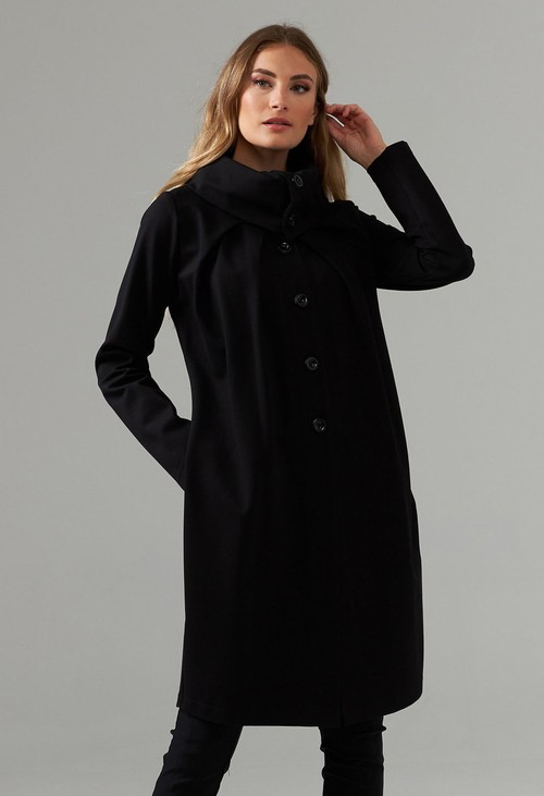Joseph Ribkoff Black Shawl Collar Coat