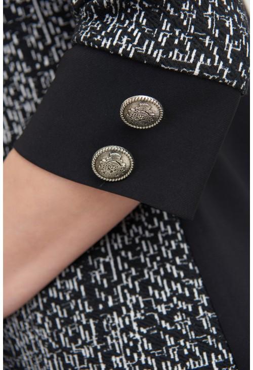 Joseph Ribkoff Textured Front Mini Dress