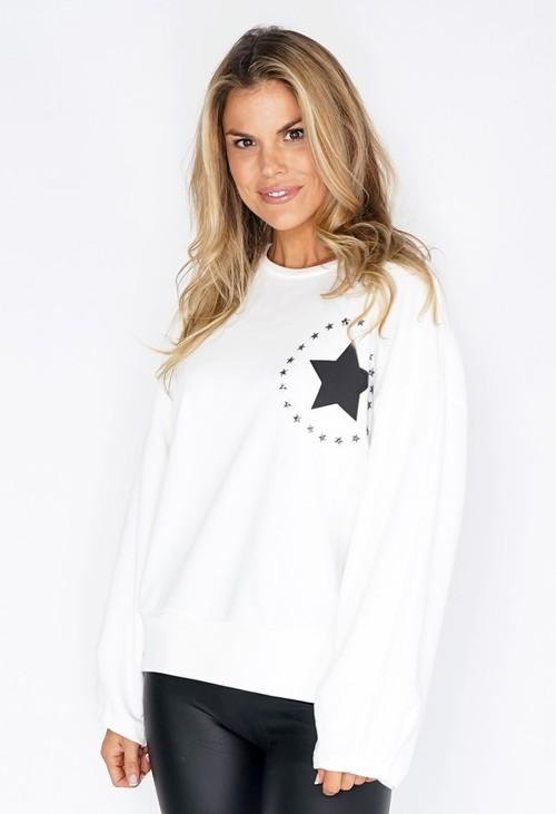 Pamela Scott White Circle of Stars Jumper