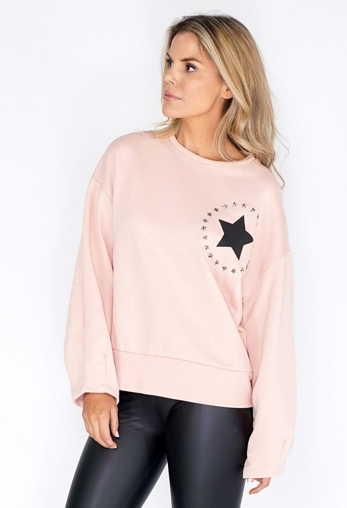 Pamela Scott Pink Circle of Stars Jumper