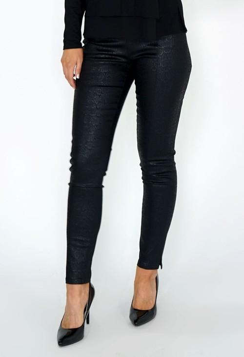 Zapara Black Snake Print Leggings