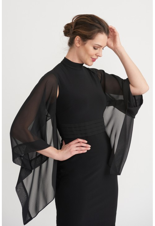 Joseph Ribkoff Sheer Sleeved Cascade Cover-up