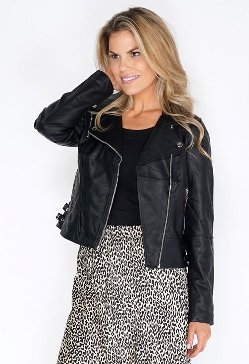 Pamela Scott Black Faux Leather Jacket