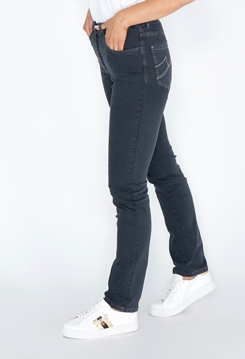 Twist Graphite Jeans with Diamante Detail on Back Pockets